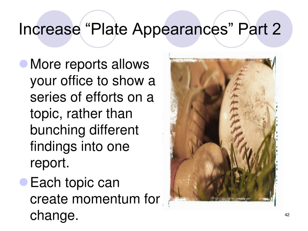 "Increase ""Plate Appearances"" Part 2"