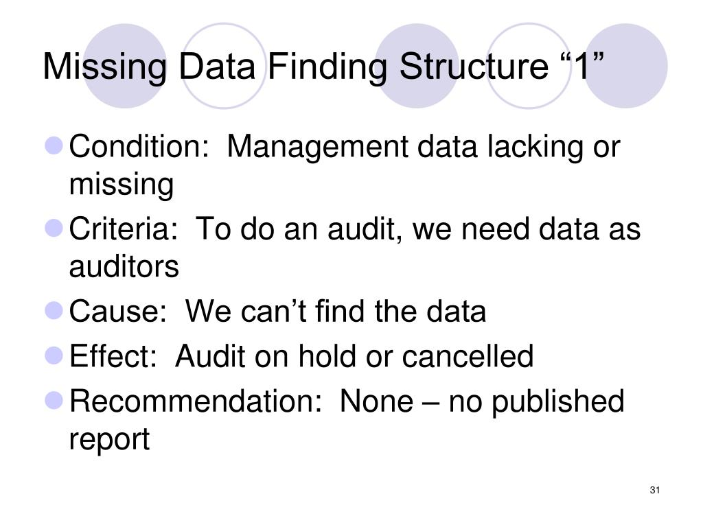 "Missing Data Finding Structure ""1"""