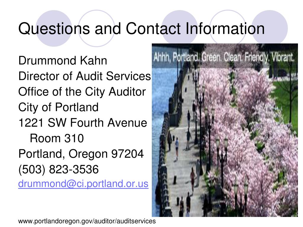 Questions and Contact Information
