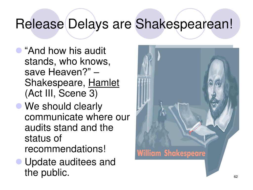 Release Delays are Shakespearean!