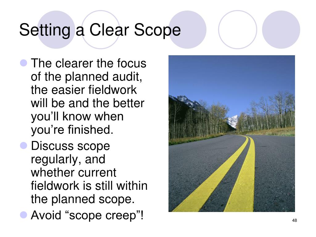 Setting a Clear Scope