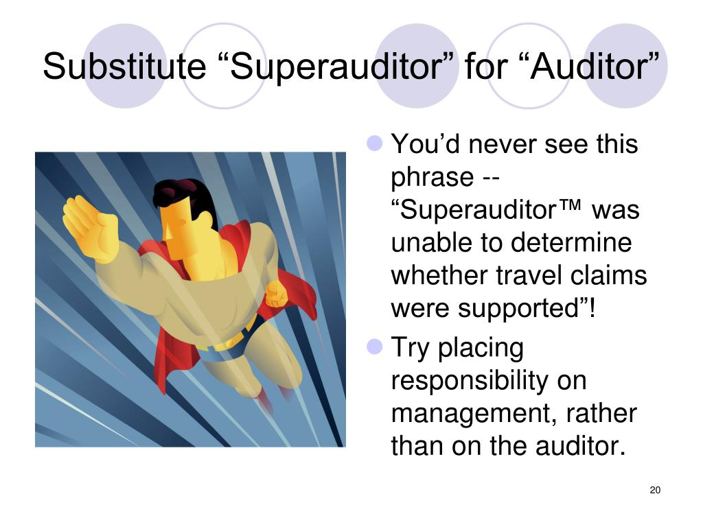 """Substitute """"Superauditor"""" for """"Auditor"""""""