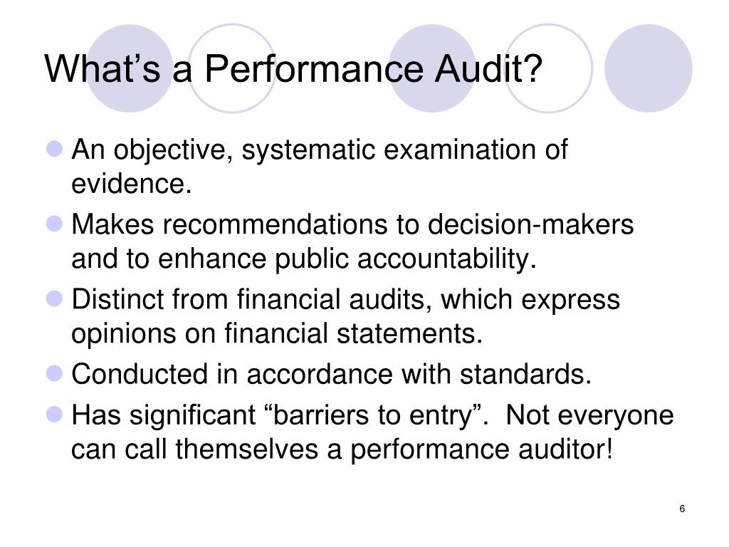 What's a Performance Audit?