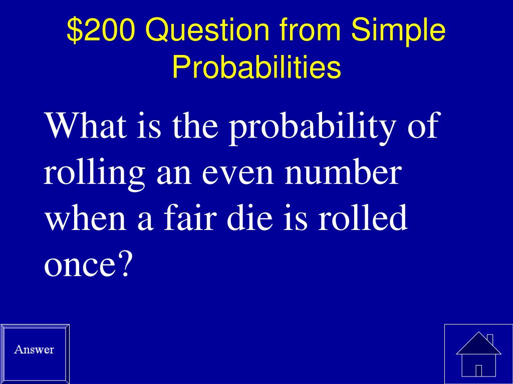 $200 Question from Simple Probabilities