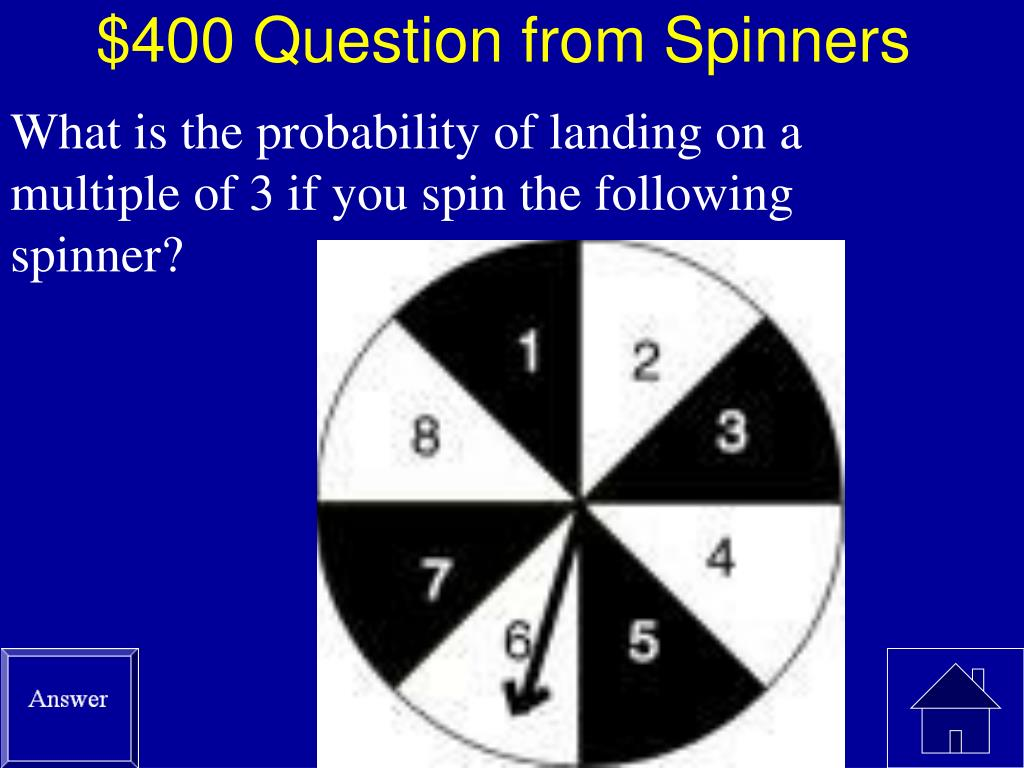 $400 Question from Spinners