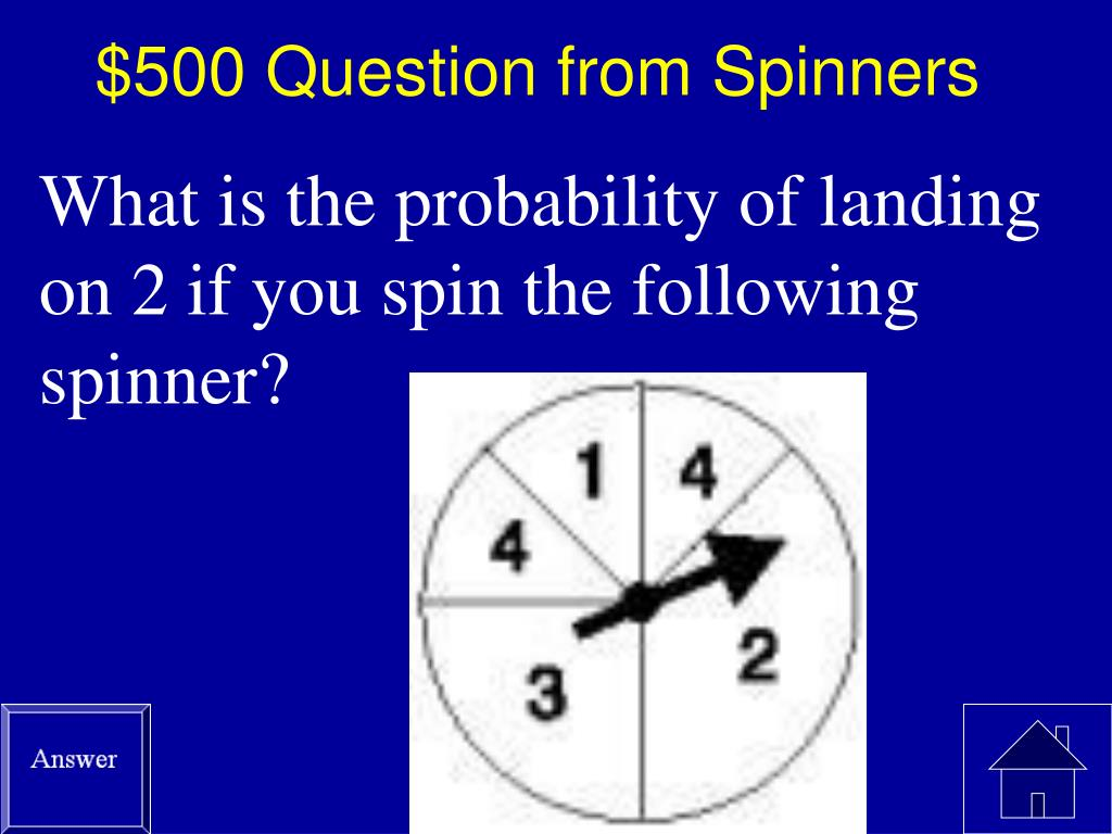 $500 Question from Spinners
