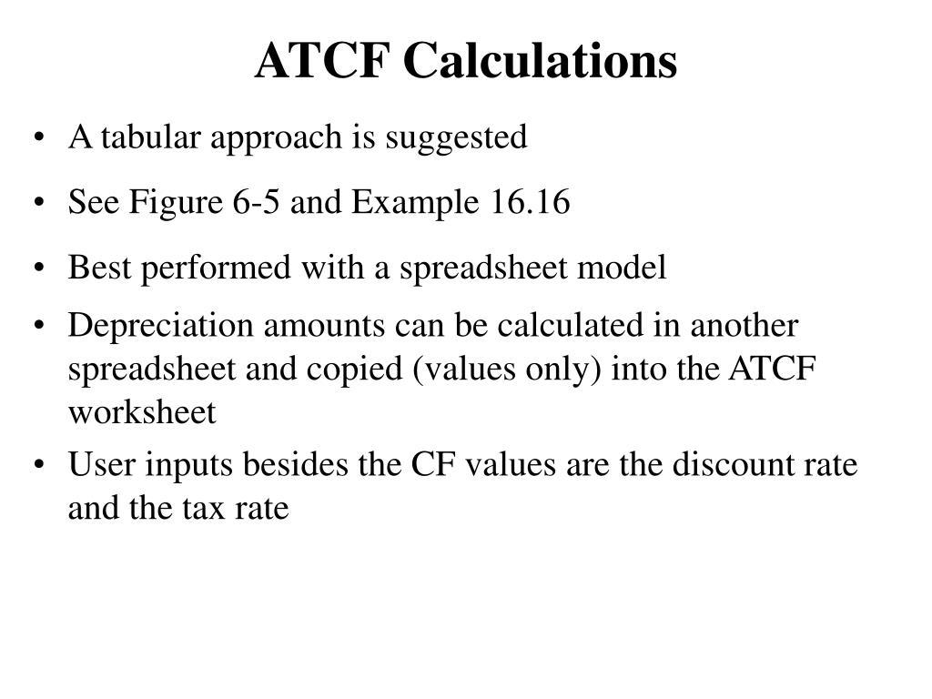 ATCF Calculations