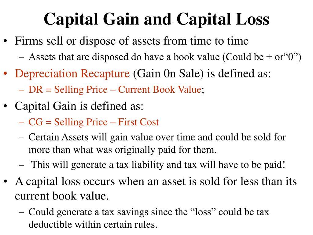 Capital Gain and Capital Loss