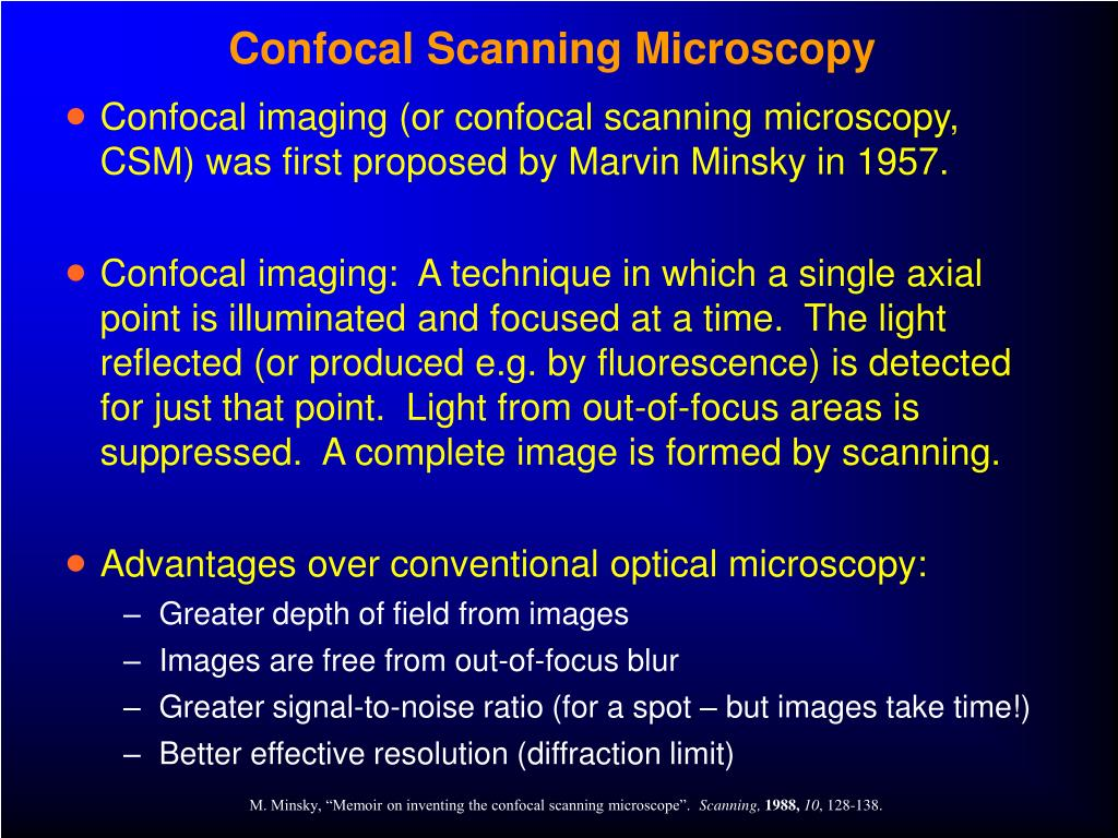 Confocal Scanning Microscopy