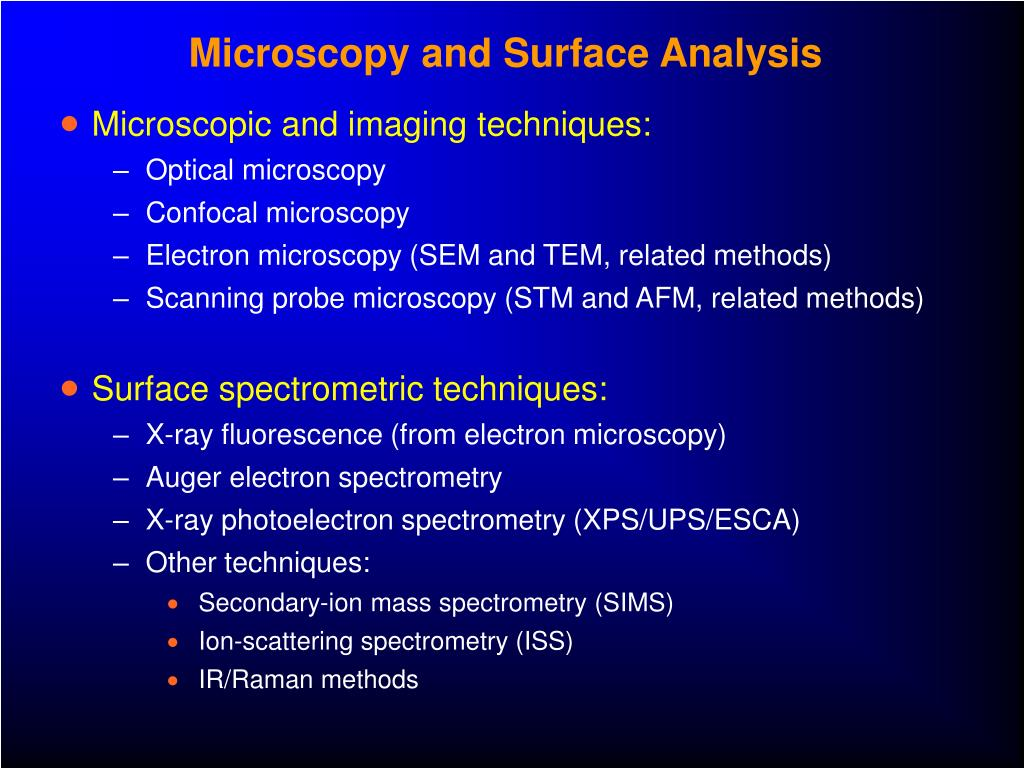 Microscopy and Surface Analysis