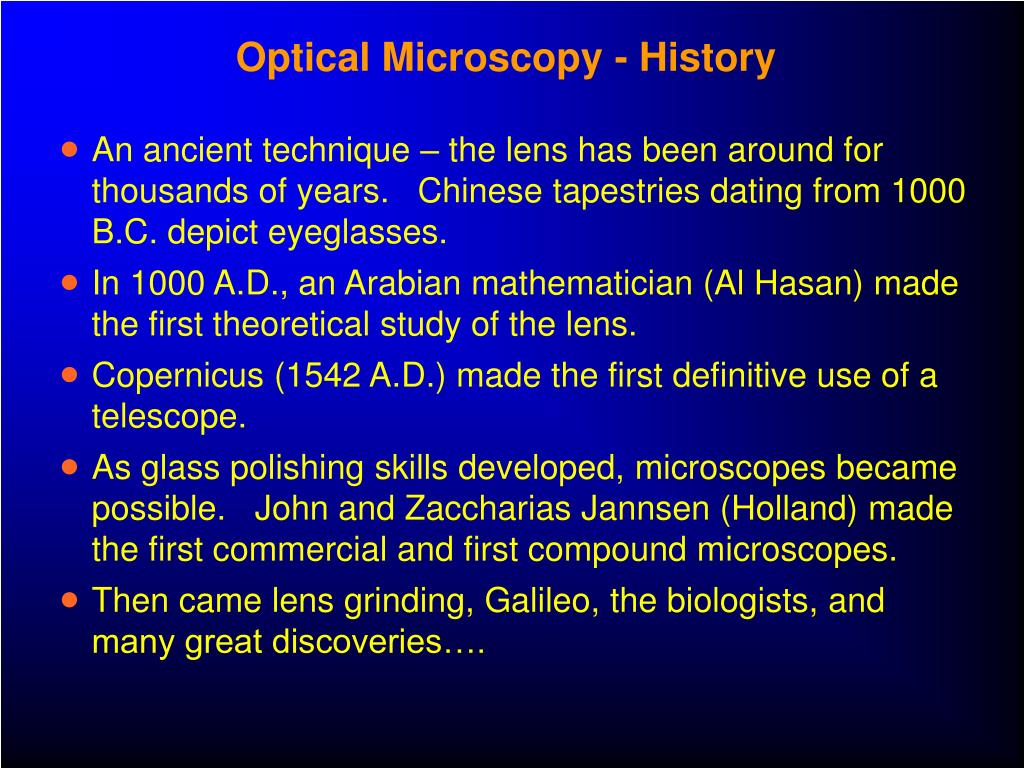 Optical Microscopy - History