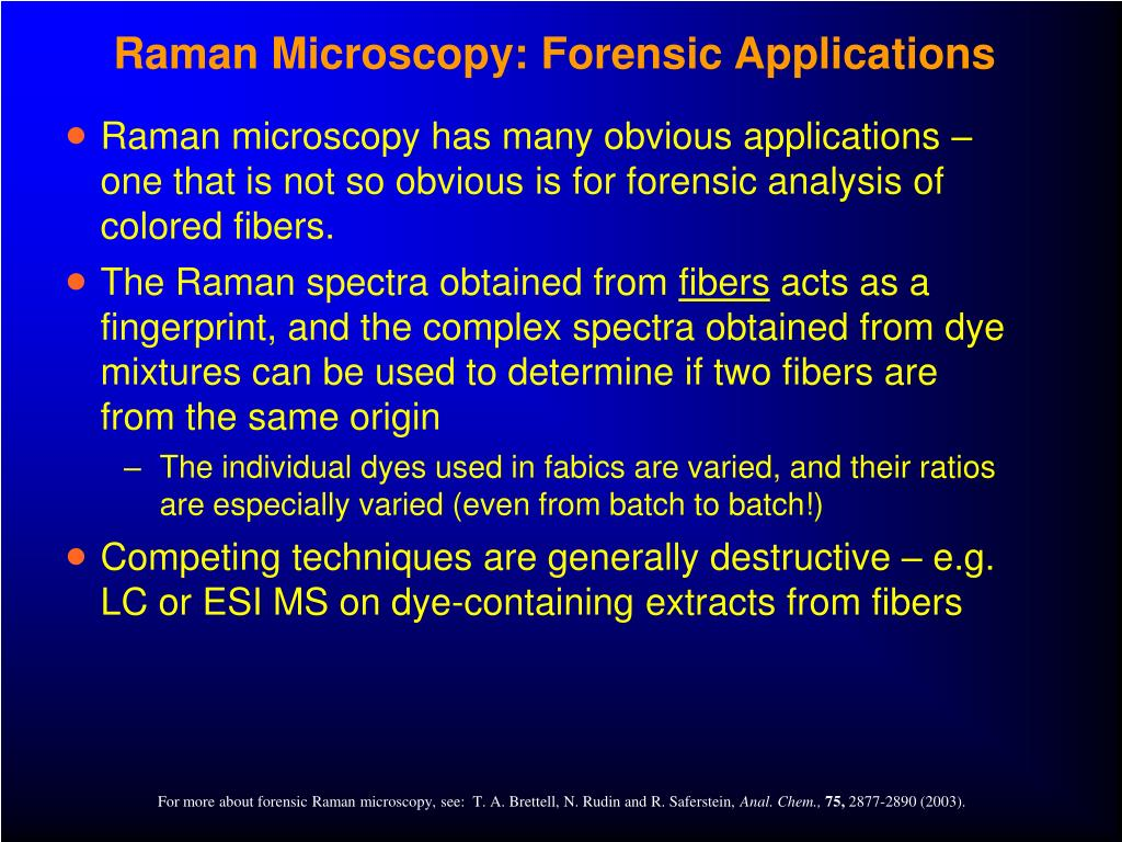 Raman Microscopy: Forensic Applications