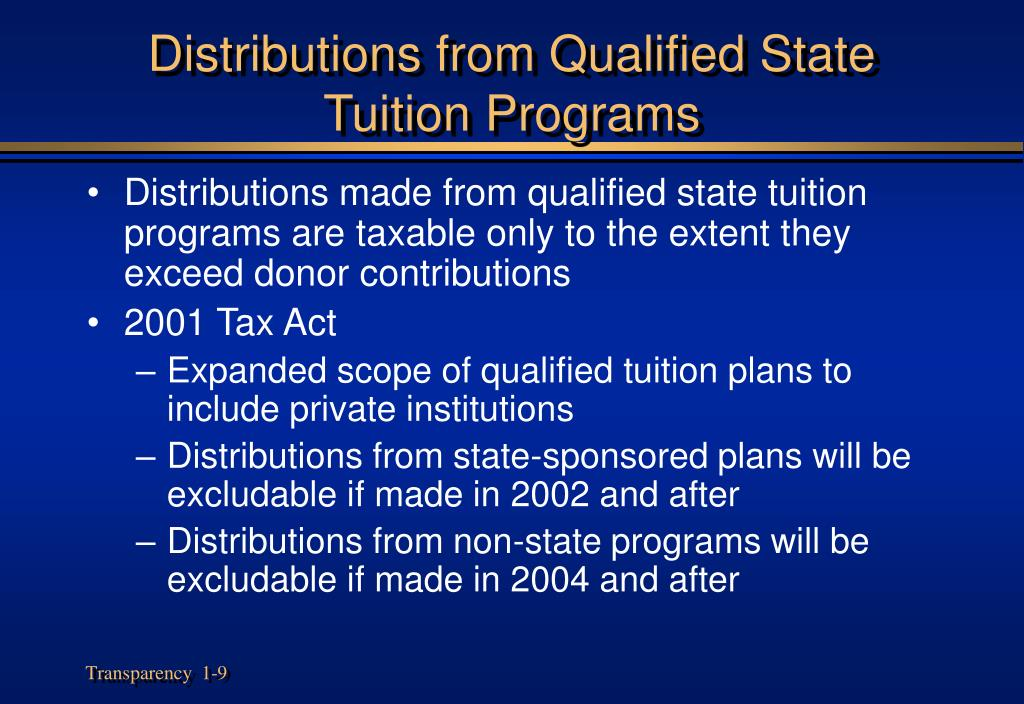 Distributions from Qualified State Tuition Programs