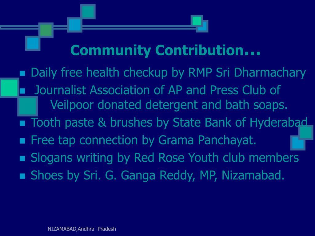 Community Contribution