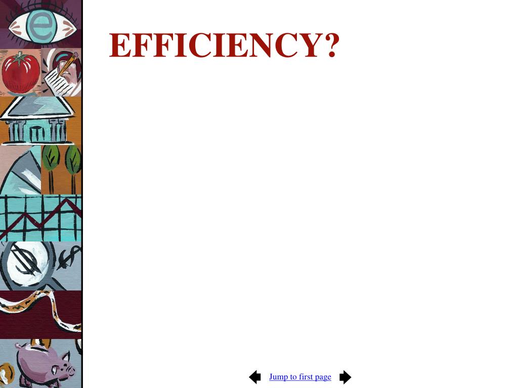 EFFICIENCY?