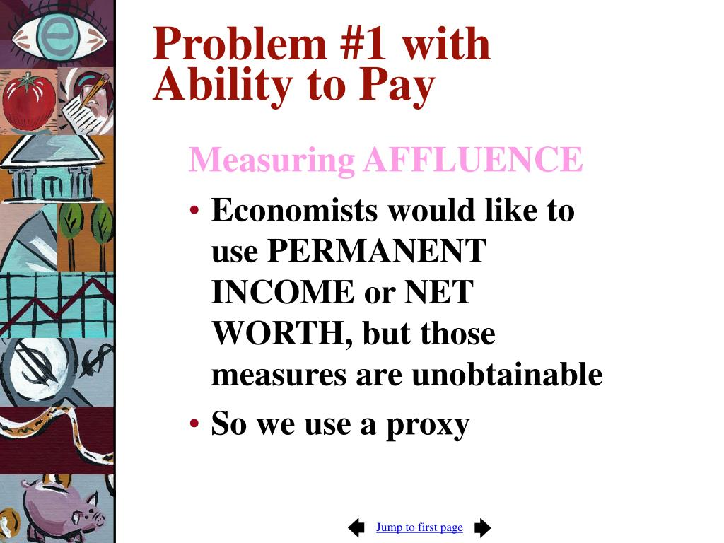 Problem #1 with Ability to Pay