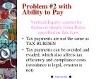 problem 2 with ability to pay