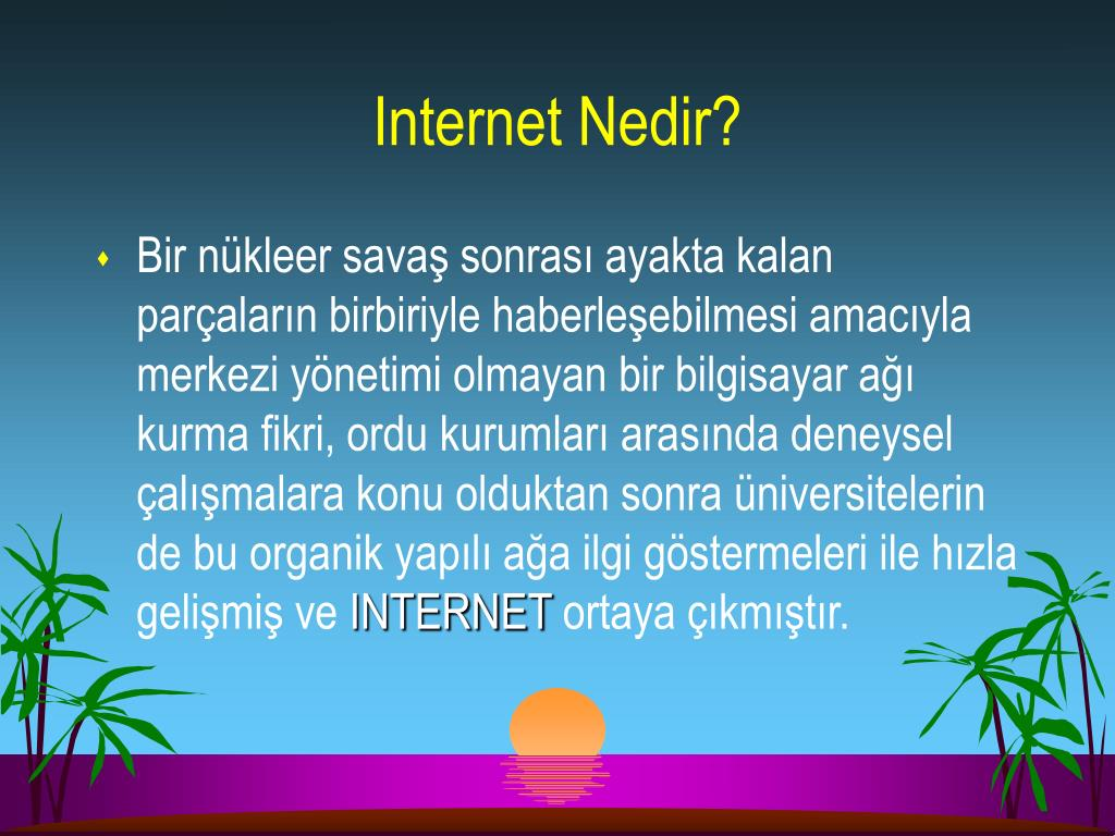 Internet Nedir?