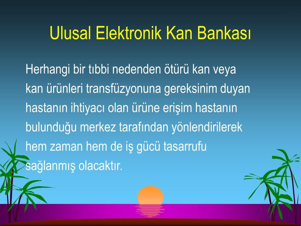 Ulusal Elektronik Kan Bankası