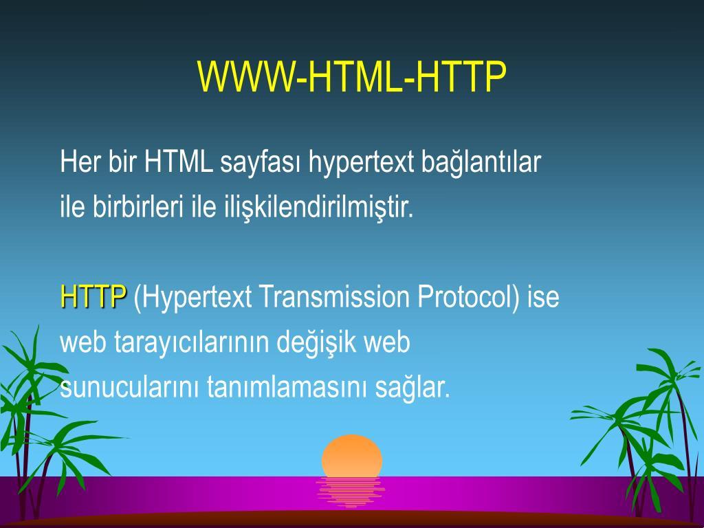 WWW-HTML-HTTP