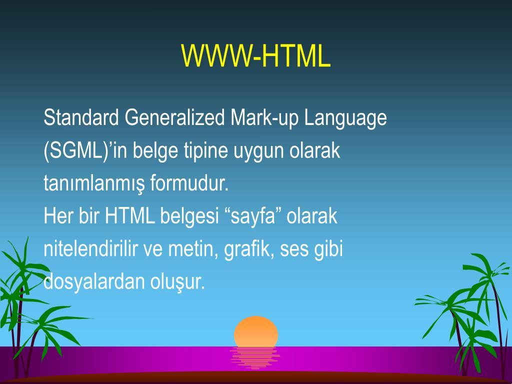 WWW-HTML
