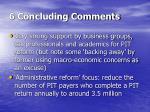 6 concluding comments