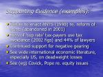 supporting evidence examples