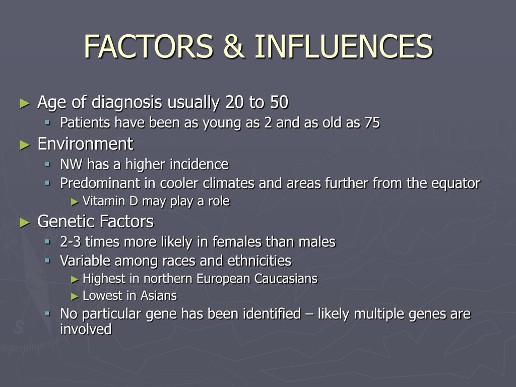 FACTORS & INFLUENCES