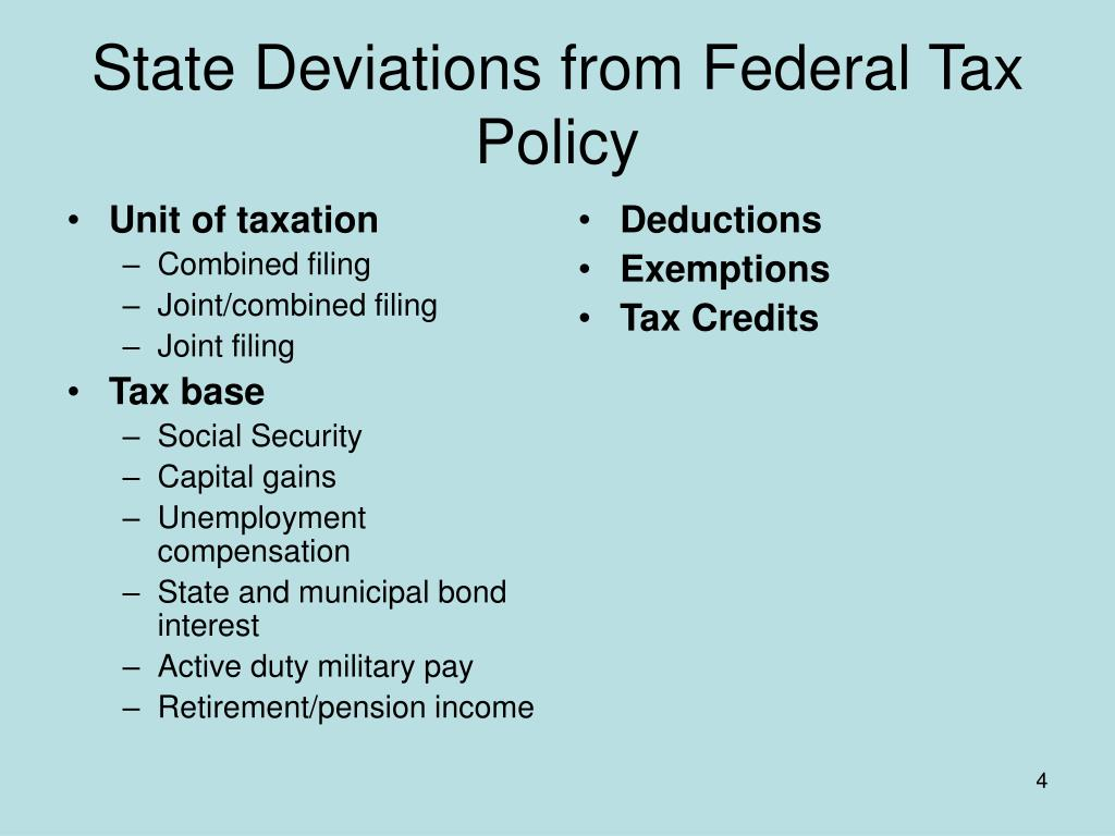 Unit of taxation