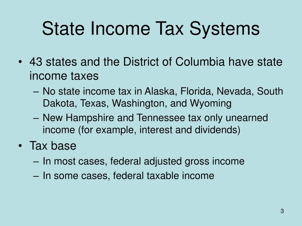 State Income Tax Systems