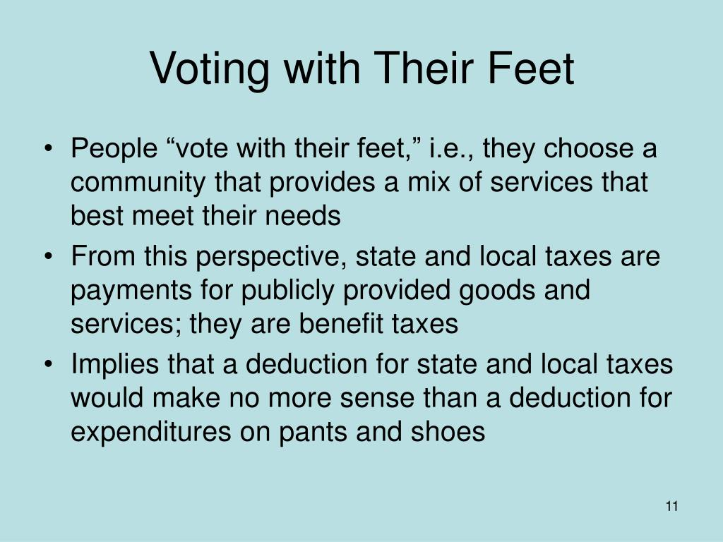 Voting with Their Feet