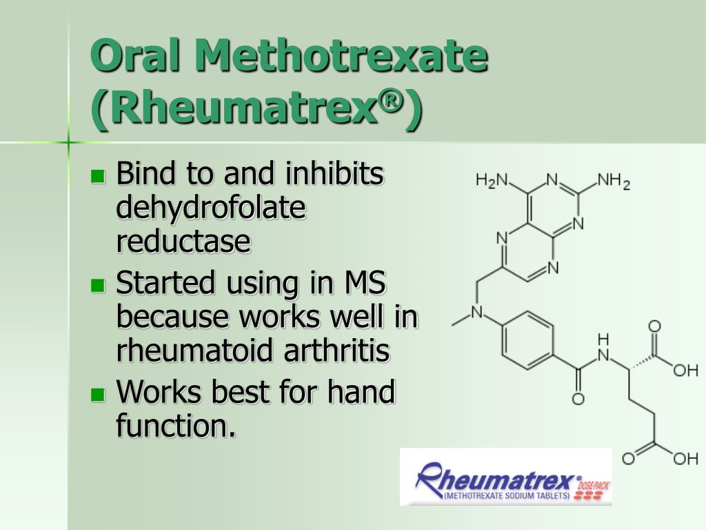 Oral Methotrexate (Rheumatrex