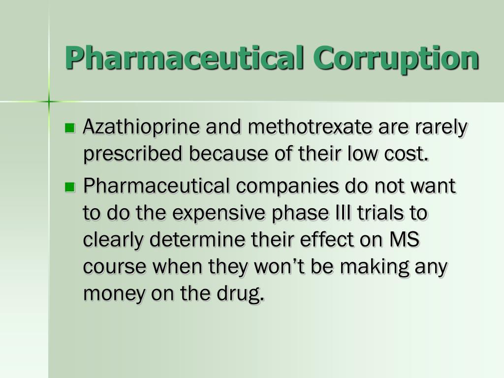 Pharmaceutical Corruption