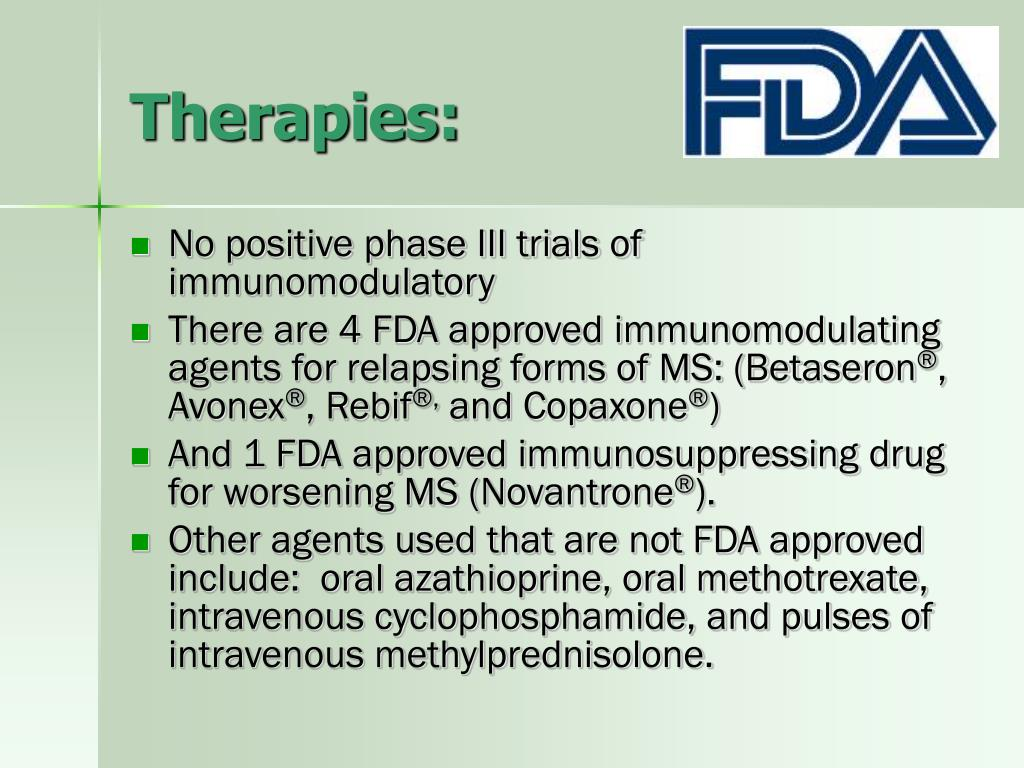 Therapies: