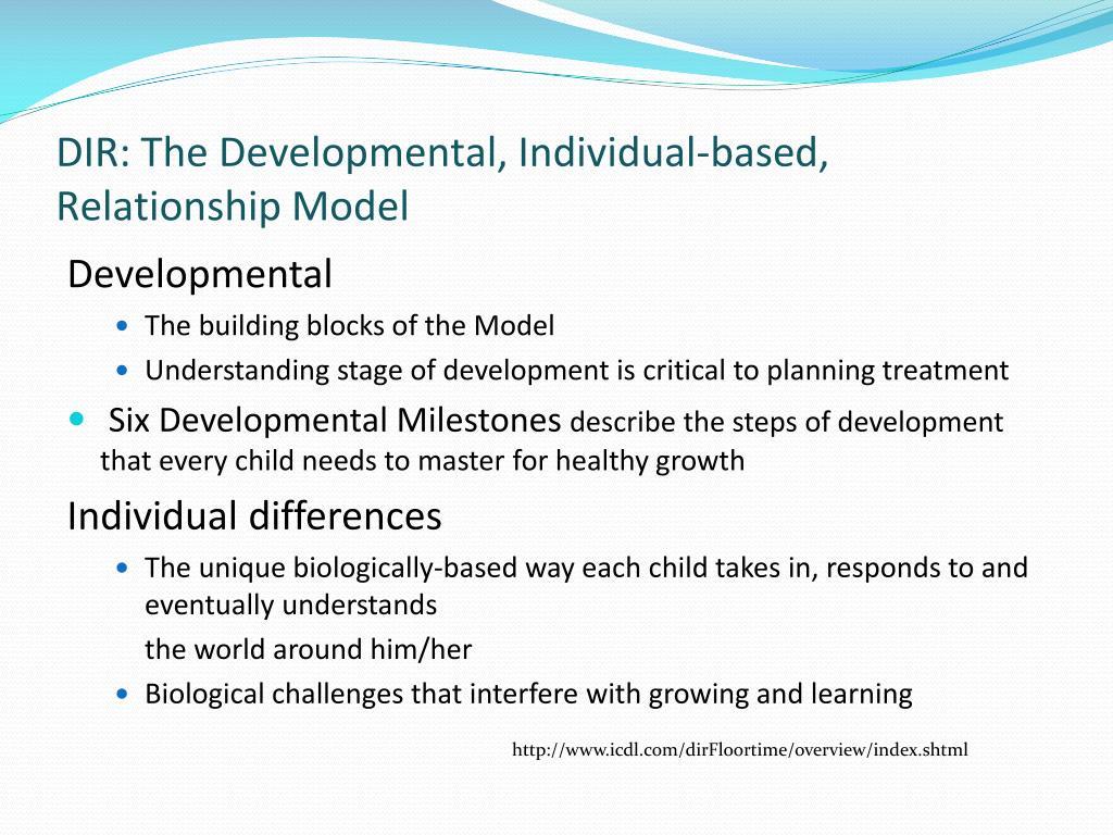 DIR: The Developmental, Individual-based, Relationship Model