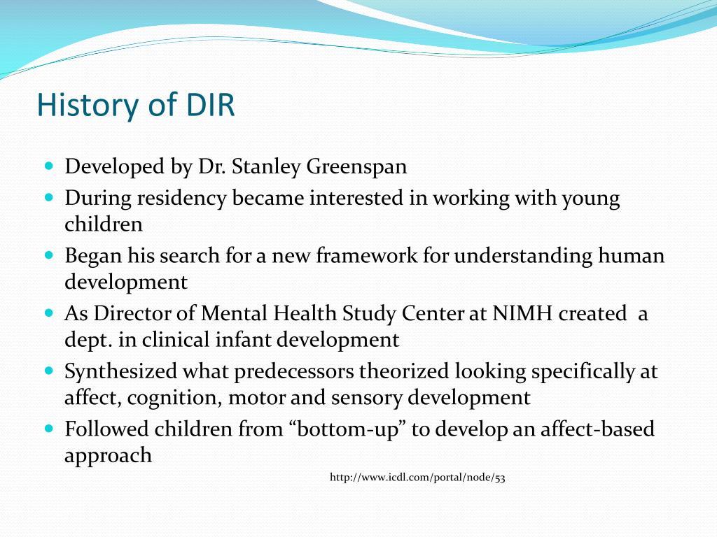 History of DIR