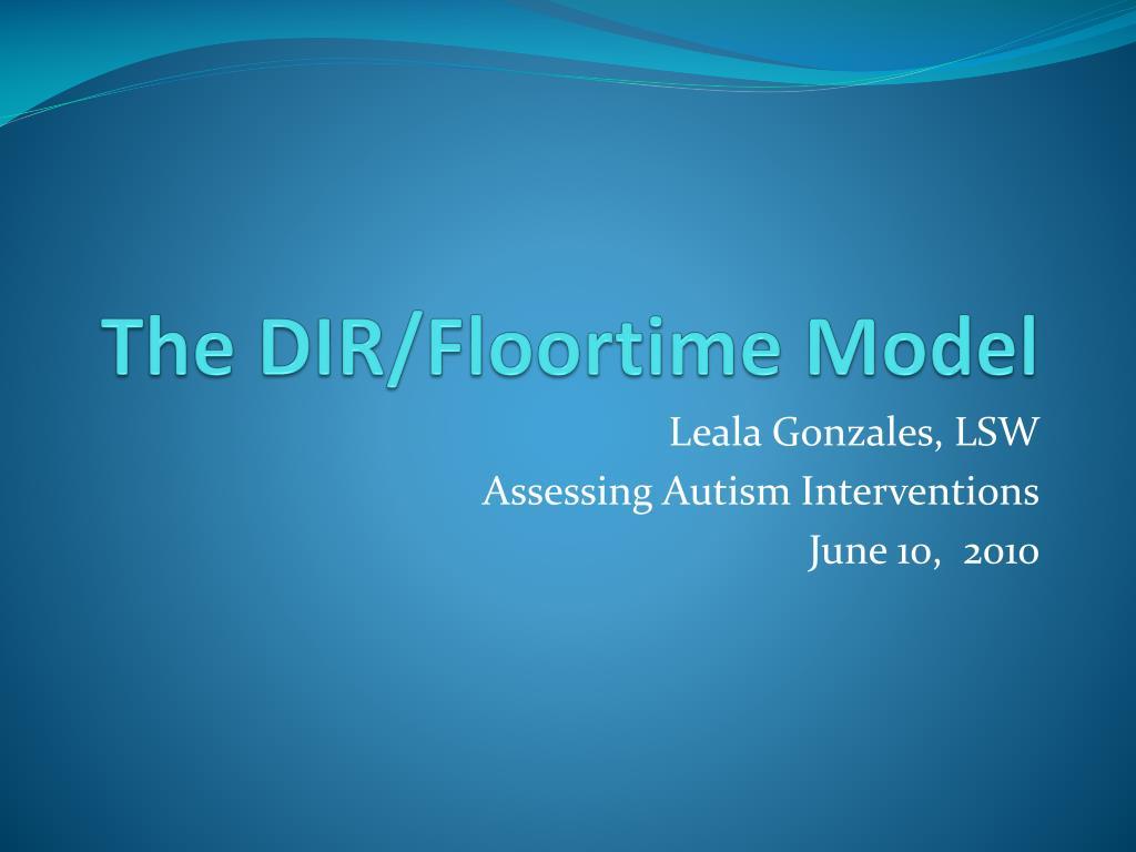 the dir floortime model