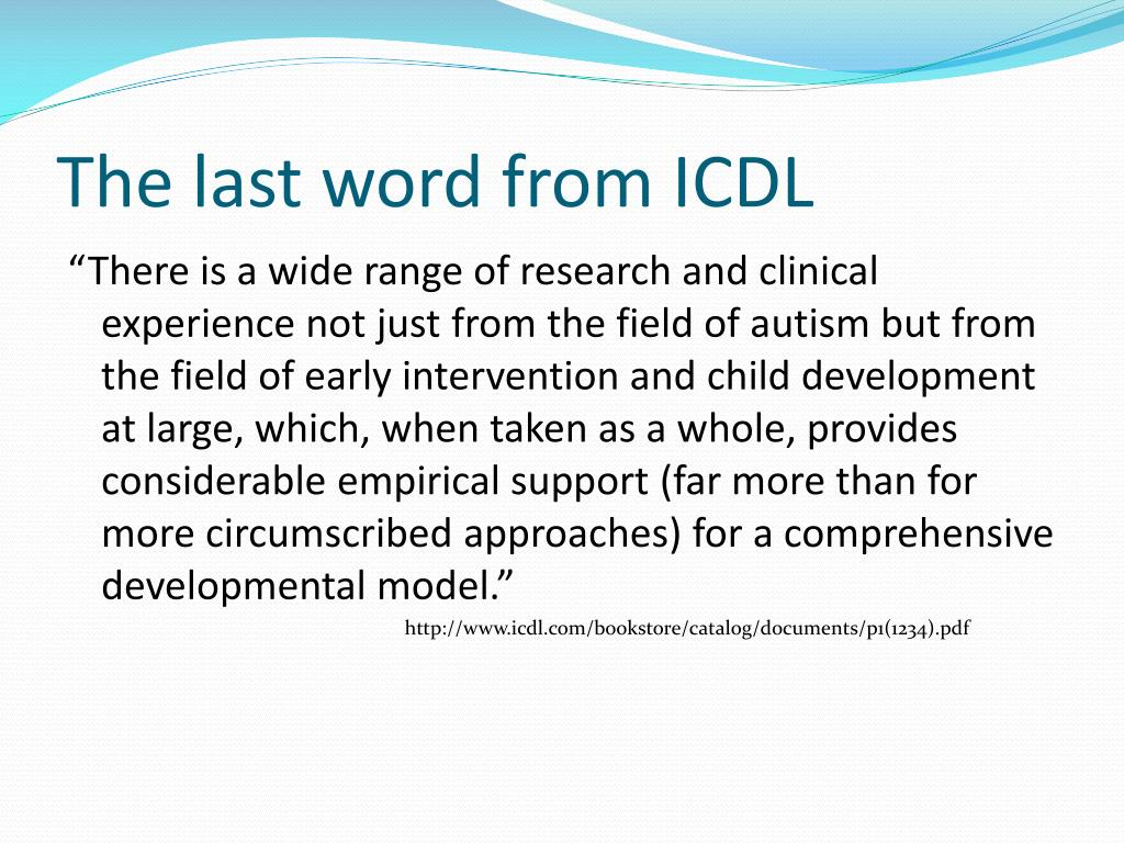 The last word from ICDL
