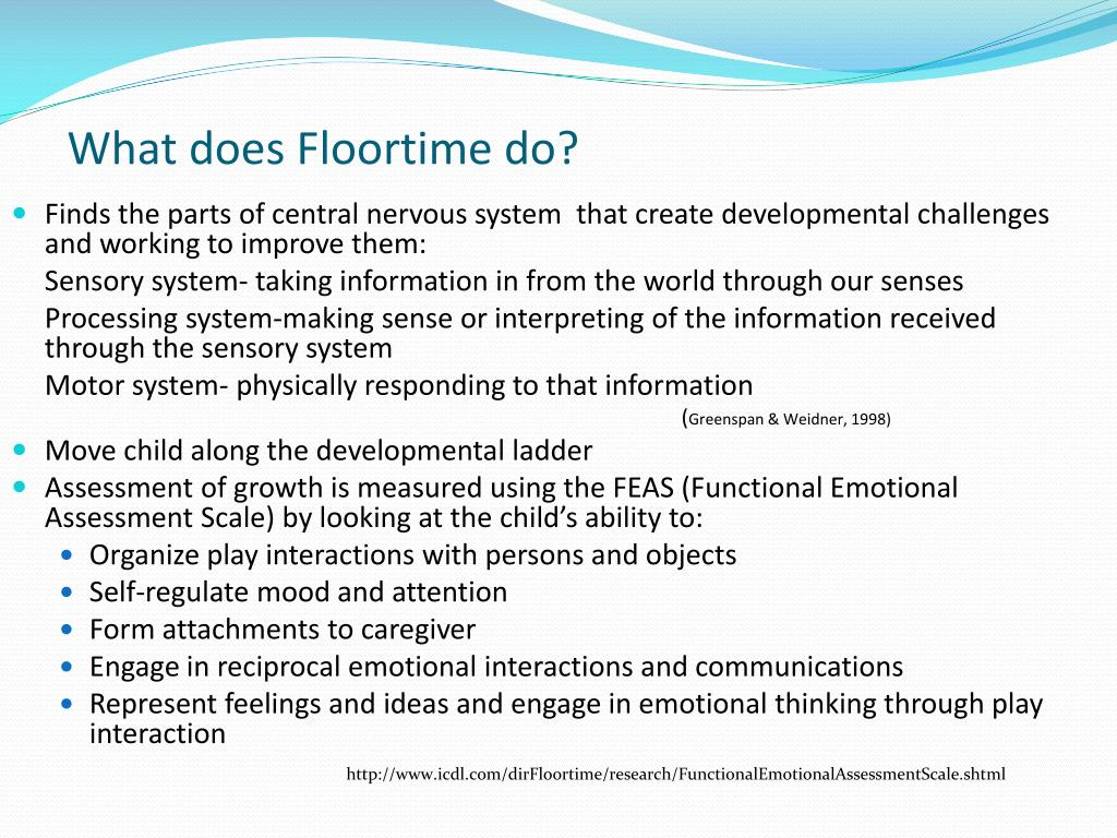 What does Floortime do?