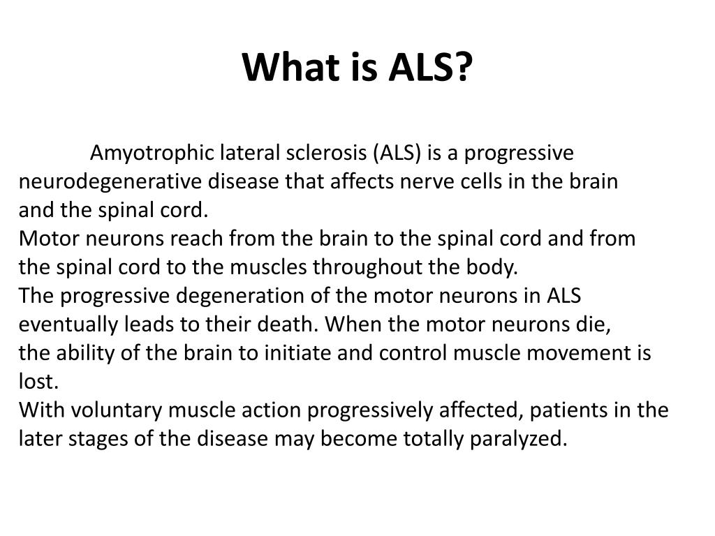 What is ALS?