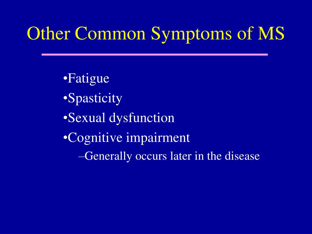 Other Common Symptoms of MS