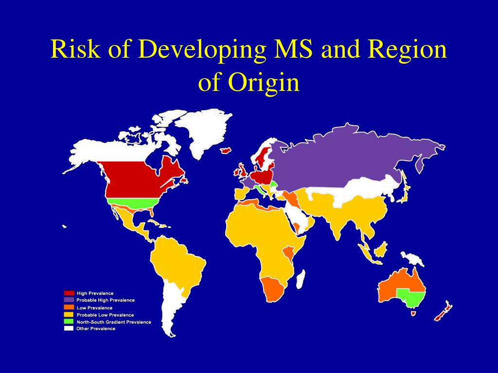 Risk of Developing MS and Region of Origin