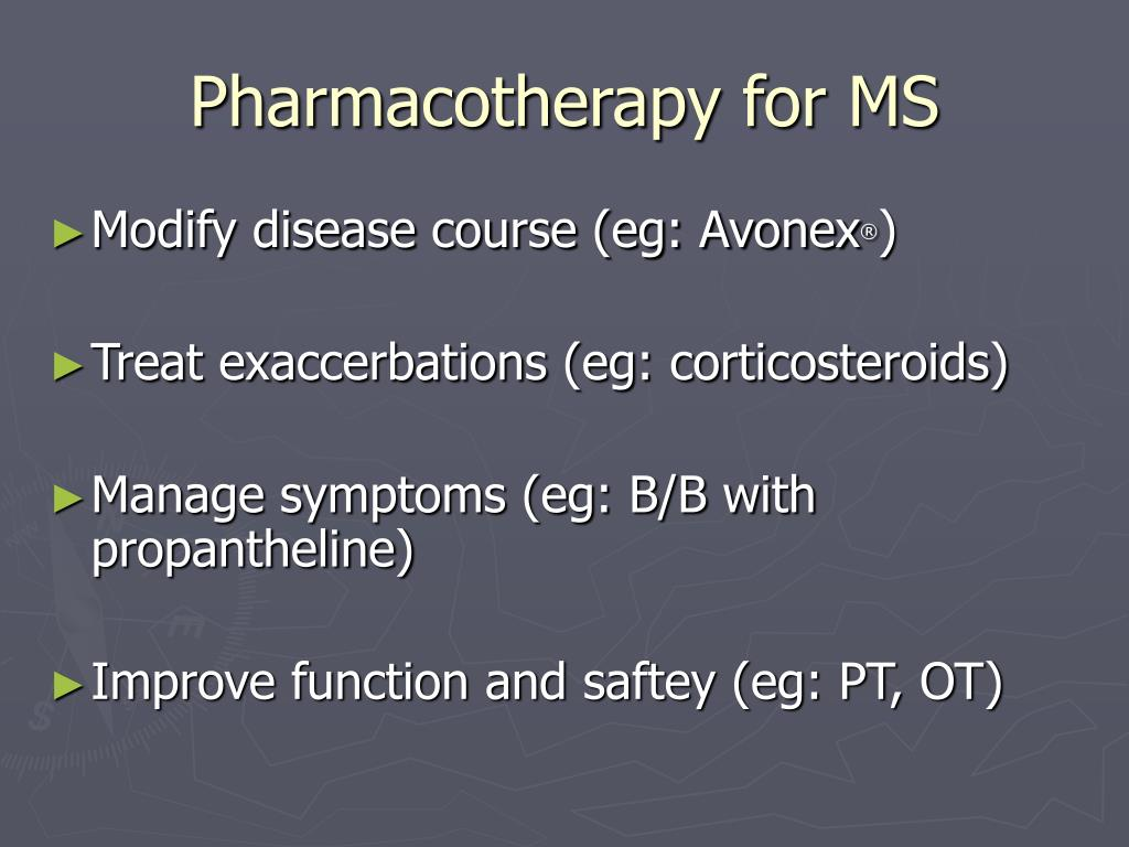 Pharmacotherapy for MS