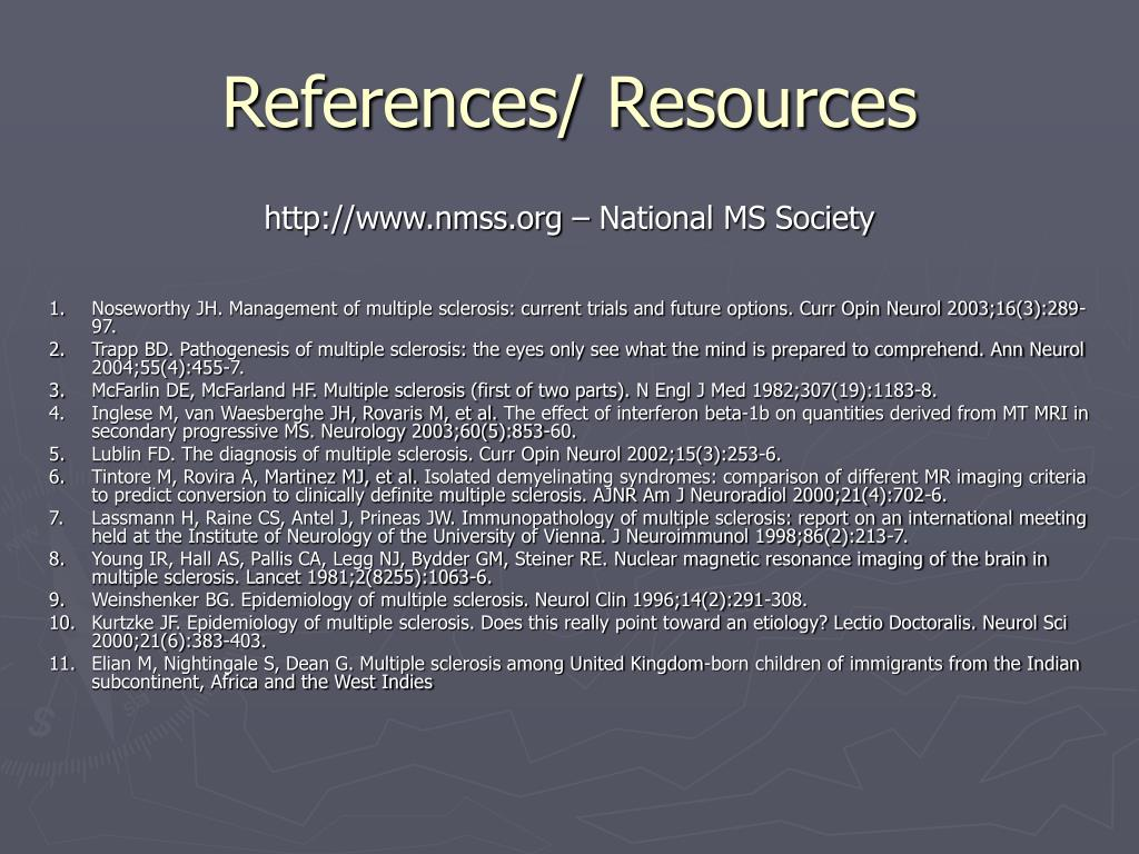 References/ Resources