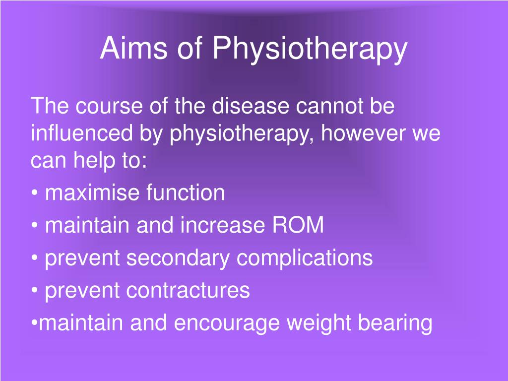 Aims of Physiotherapy
