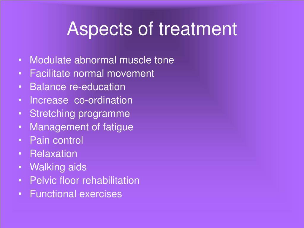 Aspects of treatment