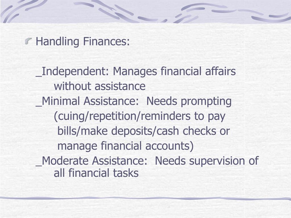 Handling Finances: