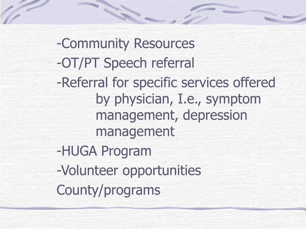 -Community Resources