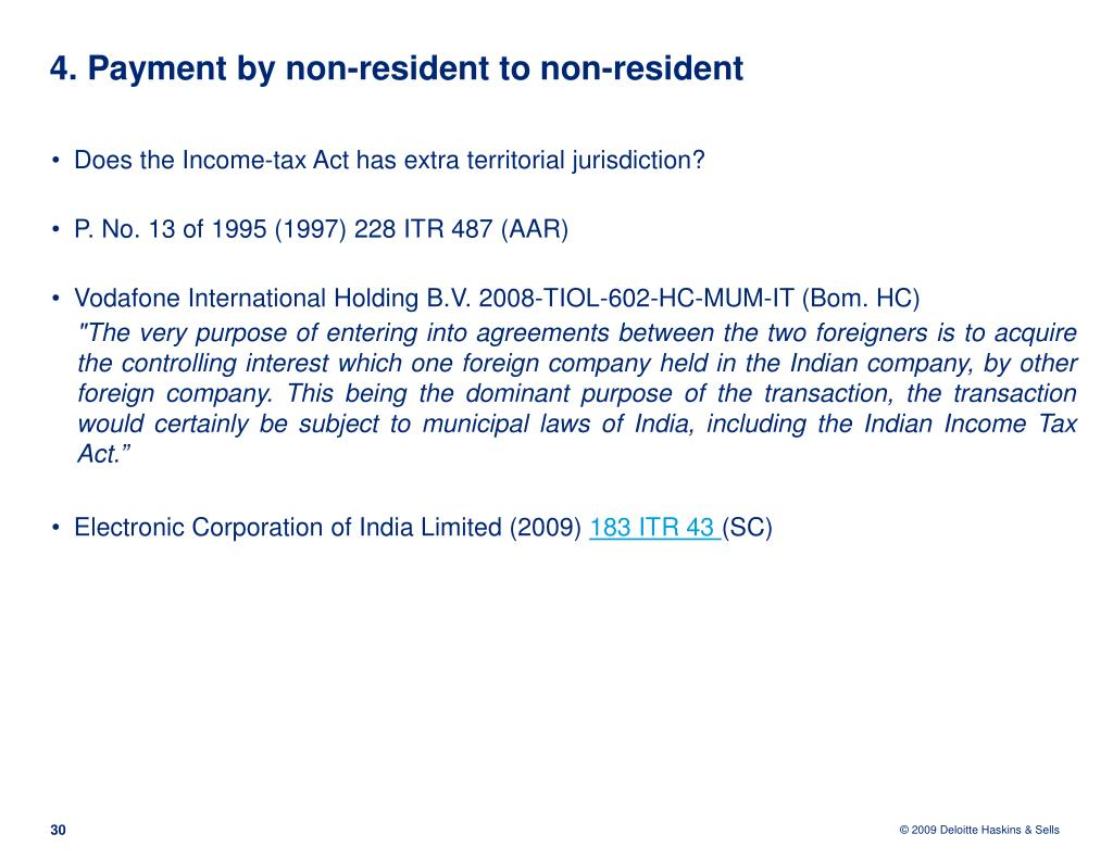 4. Payment by non-resident to non-resident