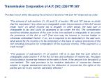transmission corporation of a p sc 239 itr 387